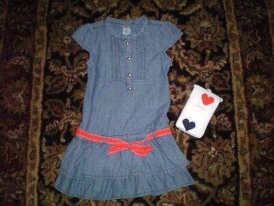 NWT Gymboree Size 6 Prep Perfect Orange /& Blue Girls dress