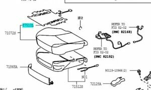 TOYOTA Genuine 87510-06060 Seat Cushion Heater Assembly