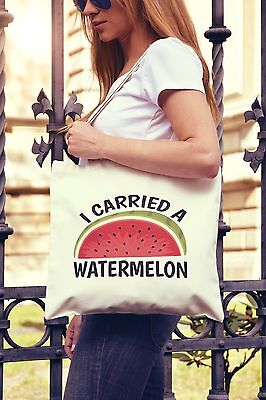 I Carried A Watermelon Canvas Tote Bag Shopper Funny Present