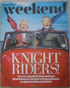 Sir Derek Jacobi  Sir Ian McKellen  Daily Mail Weekend magazine  23 May 2015 - Northolt, Middlesex, United Kingdom - Sir Derek Jacobi  Sir Ian McKellen  Daily Mail Weekend magazine  23 May 2015 - Northolt, Middlesex, United Kingdom