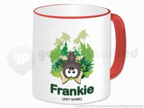 Personalised Bat Animal Jungle Theme Tea Coffee Ceramic Mug Cup Custom Gift