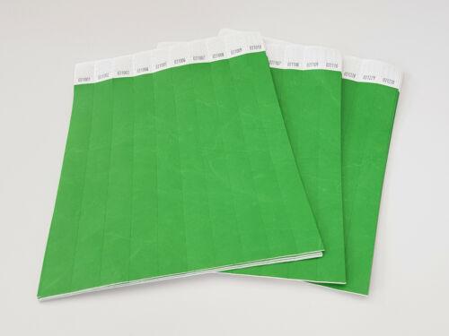 100 einfarbige Einlassbänder Eintrittsbändchen Papierarmbänder Kontrollarmbänder