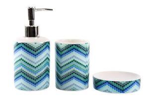Accessori Per Il Bagno Colorati : Accessori bagno in ceramica 3 pezzi colorati dispenser spazzolini