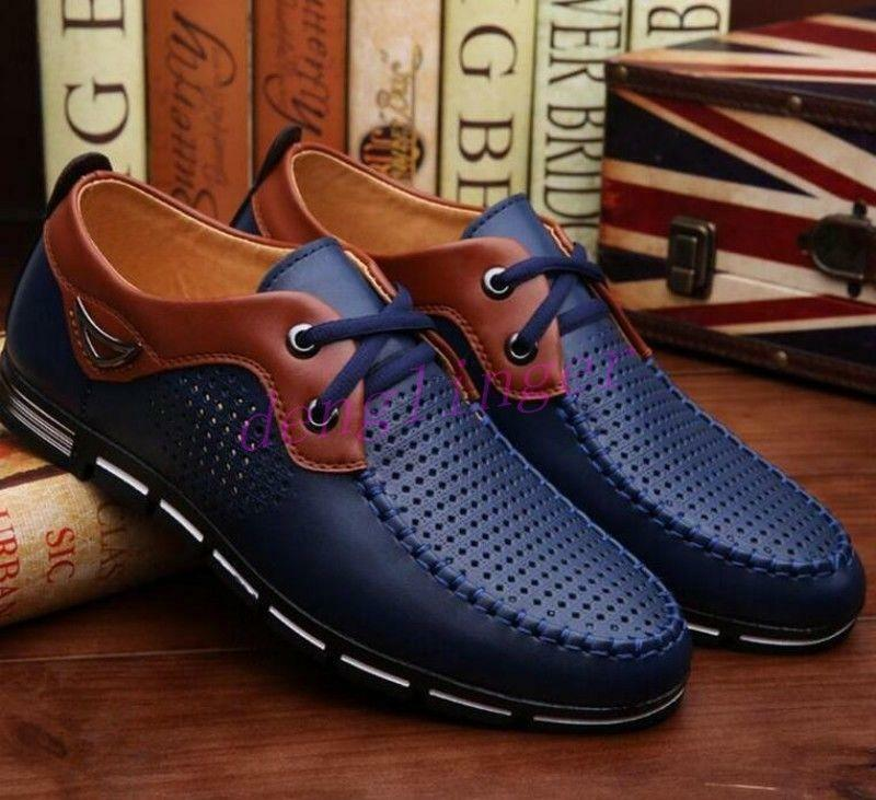 Summer Mens Mesh Lace Up Hollow out Breathable shoes Casual Outdoor Oxford shoes