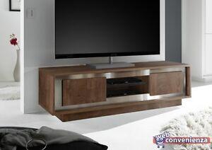 Dettagli su Mobile Soggiorno Moderno Sky Porta TV 2 Ante Effetto Legno  Cognac