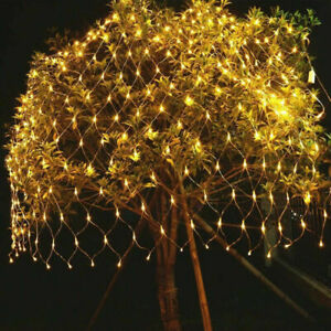 LED-String-Fairy-Lights-Net-Mesh-Curtain-Xmas-Wedding-Party-Home-Outdoor-UK-MCBT