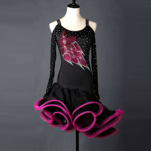 fm241 Latino Tanzkleid Latein Turnierkleid Salsa Kleid Latinakleid Neu 0qc7TUU4