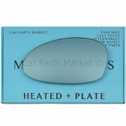 Plaque POUR BMW Série 3 05-08 à Gauche Plat Bleu électrique Aile Miroir De Verre