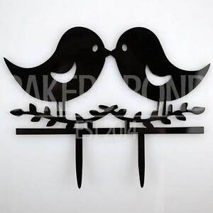 Image Is Loading Love Birds Acrylic Wedding Day Cake Topper Silhouette