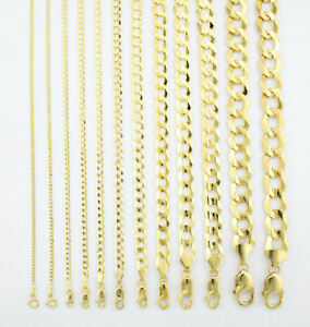 29e701295bb5f Details about Solid 10K Yellow Gold 2mm-12.5mm Curb Cuban Chain Link  Necklace Bracelet 7