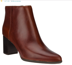 Rockport Total Motion Cuero botas al tobillo Botines-Lynix tan Mujer 9.5 Nuevo