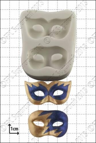 Molde de Silicona Masquerade Máscaras Comida Uso FPC Pasta de Azúcar