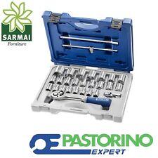 "PASTORINO EXPERT CASSETTA VALIGETTA BUSSOLE CRICCHETO DA 1/2"" 28 PZ. CARRELLO"