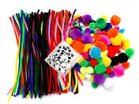 Kids Crafting Kit 500pcs Craft Supplies Pipe Cleaners Pompoms Googly Eyes
