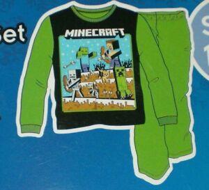 2-Piece Minecraft Boys Long Sleeve Pajama Set Size XL-14//16