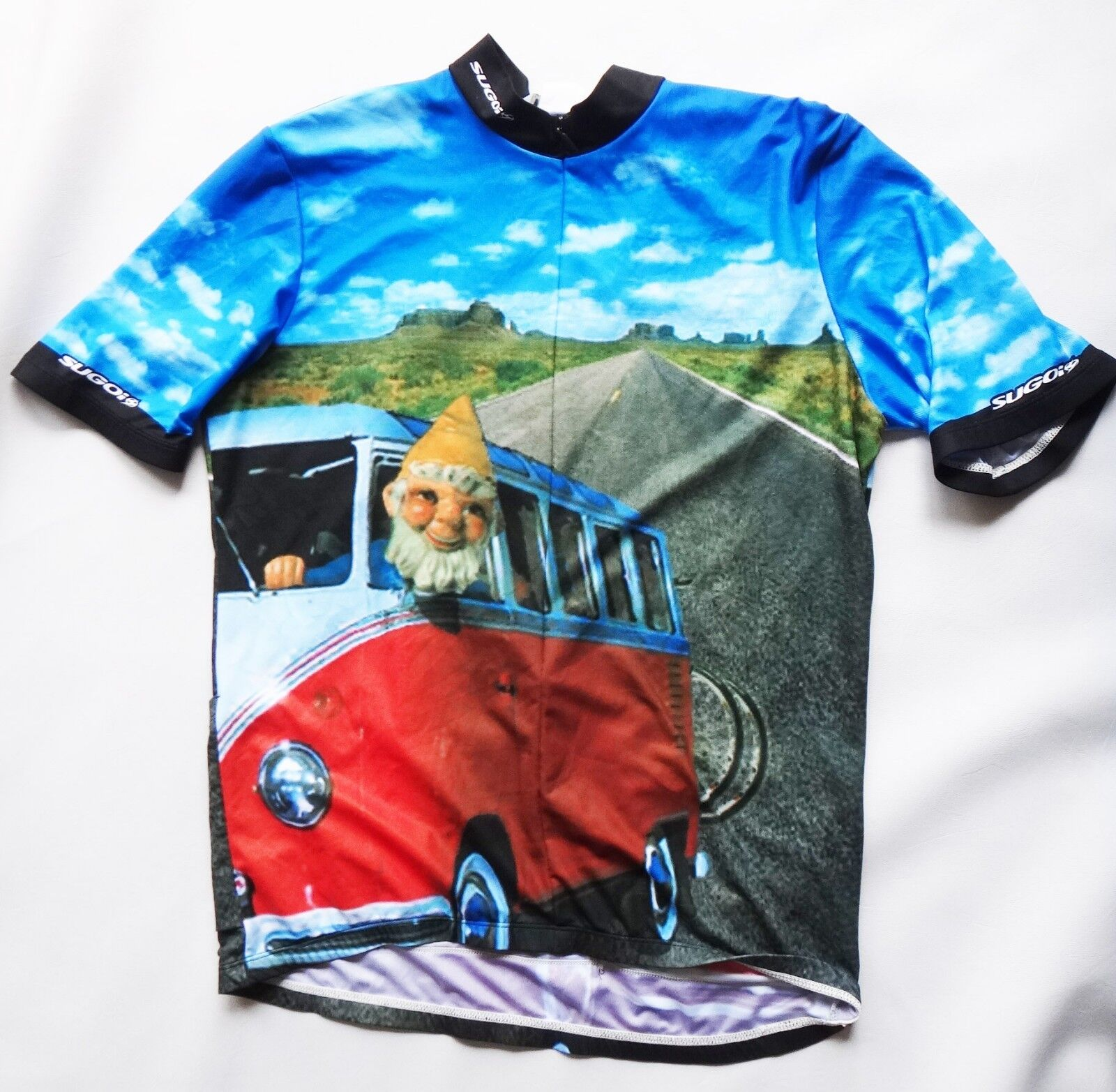 SUGoi xl Garden Gnome Bicycle Jersey men xl SUGoi vtg vw bus Volkswagen road trip bike 5a2965