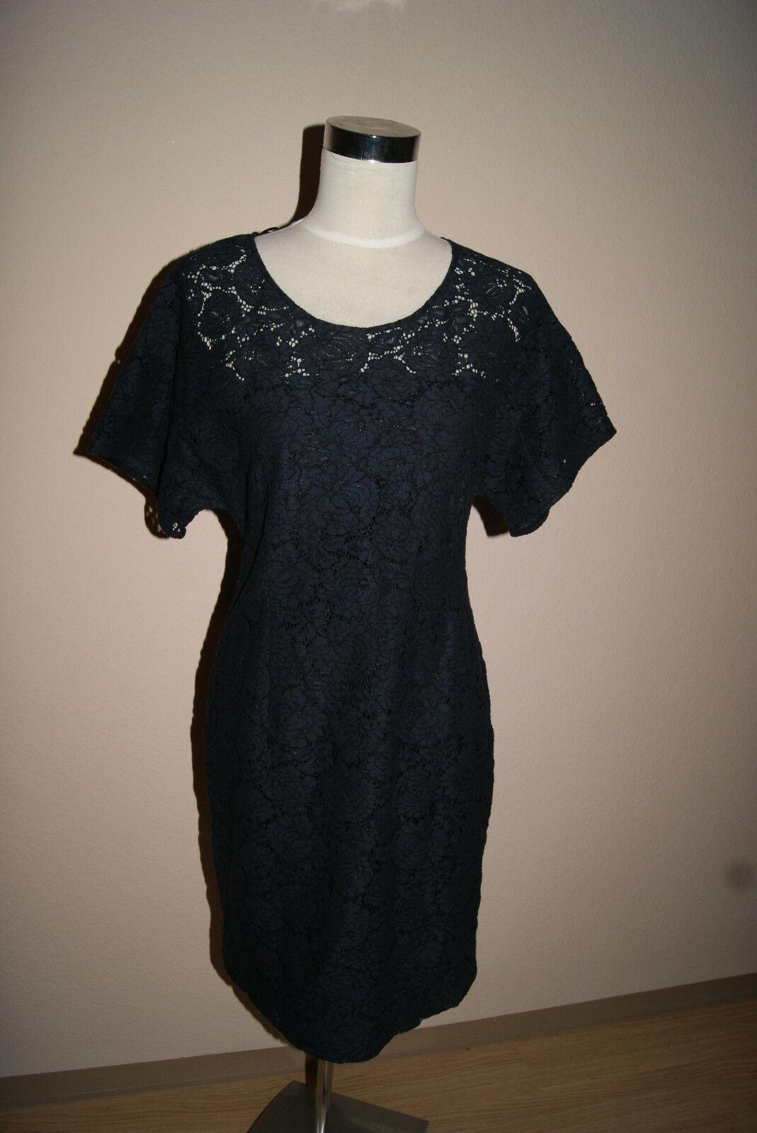 SET Kleid Gr. 40  OUISET Oui blau dunkelblau Abendkleid Spitzenkleid Spitze NEU