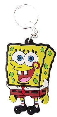 New rubber SpongeBob SquarePants Cartoon keychain/keyring. (kr120)