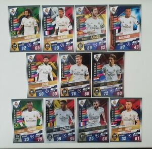 2020-Real-Madrid-Team-Set-Match-Attax-101-Soccer-Cards-11-cards-incl-5-Shiny