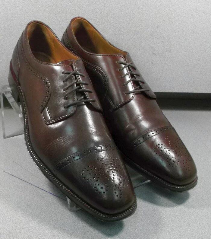 151750 PF50 Men's Shoes Size 11.5 M Burgundy Leather Lace Up Johnston & Murphy