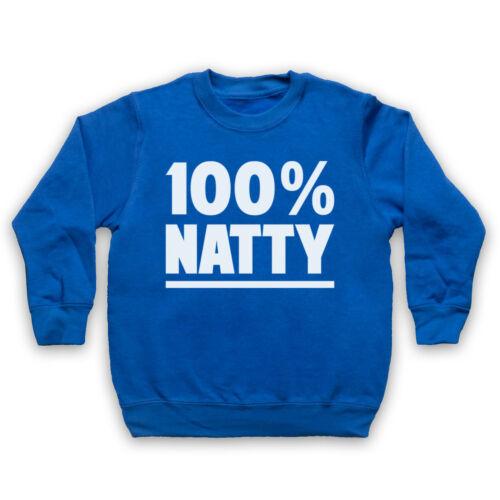 100/% Natty Gimnasio Culturismo Entrenamiento Músculos Adultos Niños Eslogan Sudadera