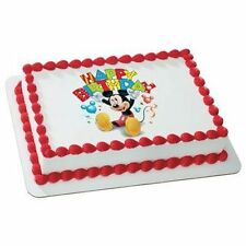 MICKEY MOUSE BIRTHDAY CLUBHOUSE BALLOONS Edible Icing Image for 1/4 sheet cake