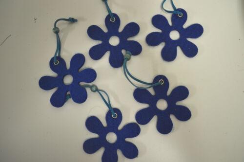 5 Stück Filz Blüten zum Hängen 8 cm Streudeko  Dekorieren Basteln