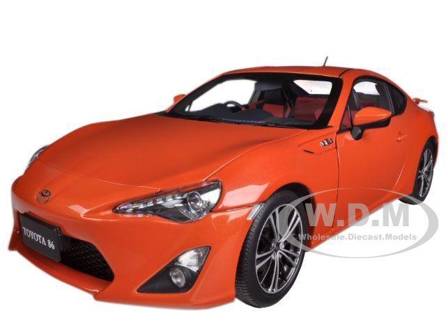 Toyota 86 gt nur asiatische version rhd Orange metallic - 1   18 78771 autoart