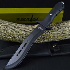 "12"" TACTICAL HUNTING MACHETE SURVIVAL KNIFE Military Bowie FIXED BLADE w/ SHEATH"