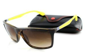 84ee967a4f Image is loading NEW-Scuderia-FERRARI-RAY-BAN-Tortoise-Yellow-Sunglasses-