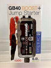 NOCO Genius Boost GB40 12V 1000 UltraSafe Lithium Jump Starter Pack