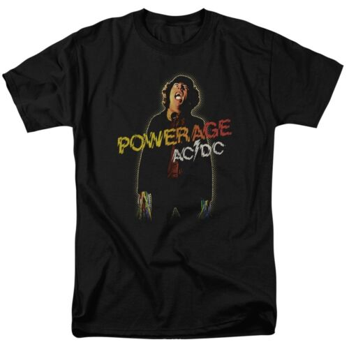 Official AC//DC Powerage Album Record Cover Symbol Logo T-shirt S to 5XL top acdc