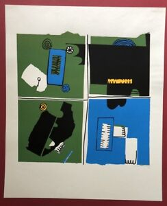 Armin-sabbioso-Ohne-Titel-litografia-1976-firmato-datato-e-numerati