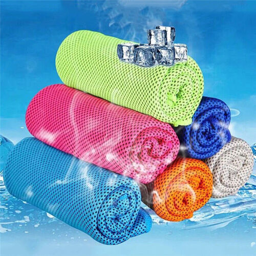 Ice Cold Enduring Running Work Out Gym Chilly Pad Instant Cooling Towel Sports F