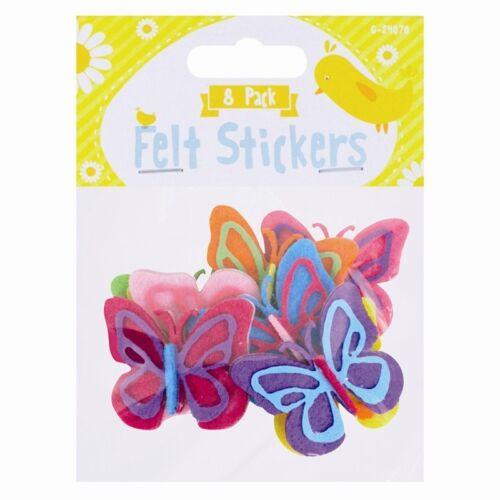 Pegatinas De Pascua Artesanal Fieltro-Paquete de 8 con 6 Diseños De Pascua Decoración de cáscara de fácil