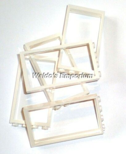 60596 Lot of 5 Lego DOOR FRAME 1X4X6 New WHITE