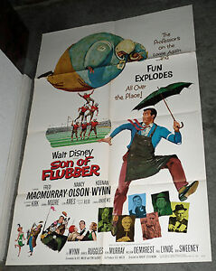 SON OF FLUBBER original 1963 DISNEY 27x41 one sheet movie poster FRED MACMURRAY