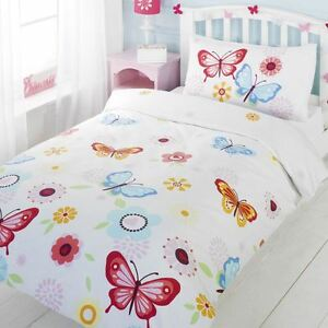 Copripiumino Singolo Ragazza.New Butterflies Single Duvet Cover Pillowcase Set Girls