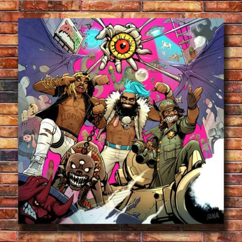 S-781 Flatbush Zombies 3001 A Laced Odyssey 2020 Music Album Poster 24x24 14x14