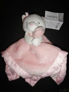 1aee80ee0 NWT Carter s Kitty Cat Girl s Pink Security Blanket Lovey Rattle New ...