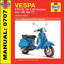 Vespa PX125 PX150 PX200 P125 P150 P200 & LML Star 1978-2012 Haynes Handbuch 0707