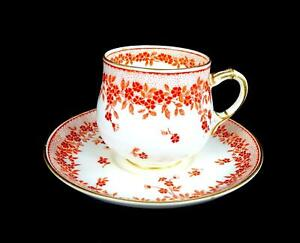 GEORGE-JONES-ENGLAND-9160-CRESCENT-CHINA-2-1-8-034-DEMITASSE-CUP-amp-SAUCER-1891