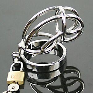 Steel male chastity belt