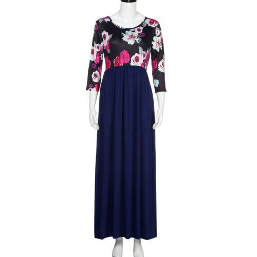 Mom/&Daughter Matching Long Dress Women/&Kids Baby Girl Floral Daliy Maxi Dresses