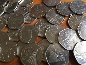 50P COINS CIRCULATED/UNCIRCULATED ROYAL MINT BRITISH COIN HUNT - VARIOUS