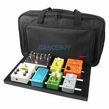 "Guitar Effect Pedal Board 18.5'' x 10.6"" With Soft Bag Case Magic Straps Cables"