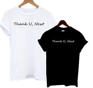 1 HIT Grazie U prossimo T Shirt Stampa Testo Slogan Top dichiarazione TEE Canzone Lyric N