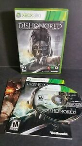 DISHONORED-XBOX-360-COMPLETE-IN-BOX-W-MANUAL-CIB-VERY-GOOD