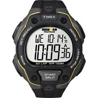 Timex T5K494, Men's Ironman Triathlon 50-Lap Resin Watch, Alarm, T5K4949J