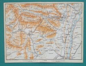 CATSKILL-MOUNTAINS-New-York-Hudson-River-1909-MAP-Baedeker-6-x-8-034-15-x-20-cm